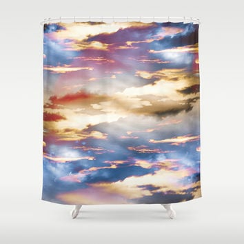 Combateur Shower Curtain by HappyMelvin Graphicus