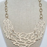 Coral Shaped Necklace in Ivory