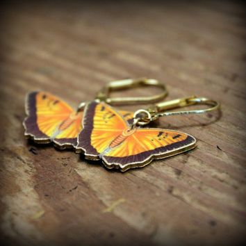 Yellow Butterfly - Yellow Butterfly Earrings - Nature Earrings - Lepidopterist Jewelry - Butterflies are Free - Butterfly Wings - Plastic
