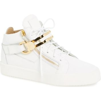 Giuseppe Zanotti Side Zip High Top Sneaker (Men) | Nordstrom