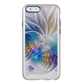 Floral Fantasy, abstract and modern, Monogram Incipio Feather® Shine iPhone 6 Case