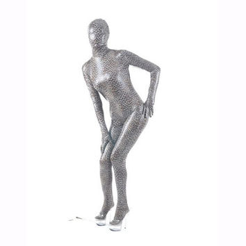 Pattern Shiny Metallic Zentai Suit - $42.99