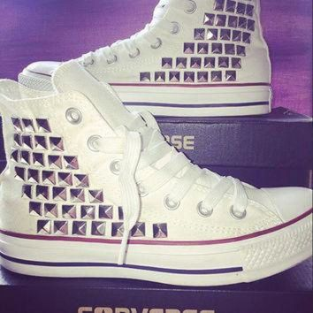 DCKL9 Custom Converse Studded High Tops - Chuck Taylors - ALL SIZES & COLORS available!