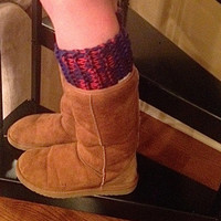 Ole Miss Red and Blue Boot Cuffs