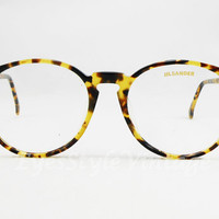 Jil Sander, 212-517, New Old Stock, Rare, Vintage, Round, Geek, Hipsters, John Lennon, Brown Tortoise, Eyeglasses, sunglasses, Frames
