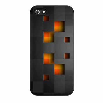 minecraft creeper black cases for iphone se 5 5s 5c 4 4s 6 6s plus