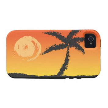 Island Sunset Vibe iPhone 4 Cover
