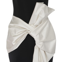 Neoprene Color Block Bow Dress | Moda Operandi