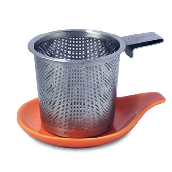 Hook Handle Loose Tea Infuser (Strainer) & Dish Set