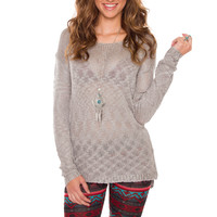 Secret Admirer Top - Grey