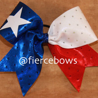 Texas Flag Cheer Bow