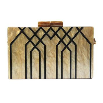 Art Deco Acrylic Clutch