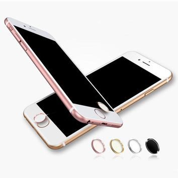 Touch ID Aluminum Home Button Sticker For iPhone 5s/6/6s/6s plus/7/7 plus With Fingerprint Identification Function