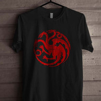 Fire and Bloods House Targaryen Sigil dragon Men Tshirt tee