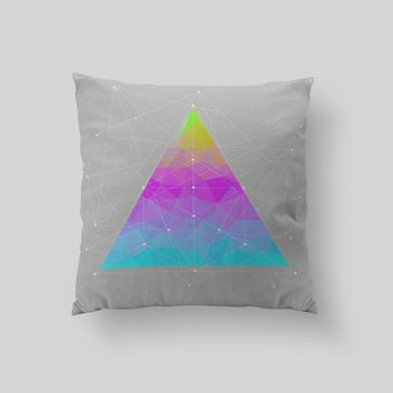 Throw Pillows for Couches / Dots will Connect Triangle by Soaring Anchor Designs