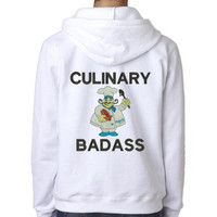 Culinary Badass #3 Hooded Custom Embroidered Sweatshirt Personalized with Name and Colors of Your Choice
