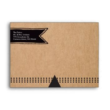 Rustic Kraft Wedding Envelope