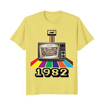 Retro Style 1982 80s t-shirt Birthday Men Women