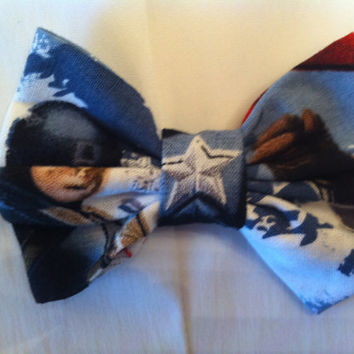 Captain America Small Fabric Hair Bow Marvel by StylishGeek