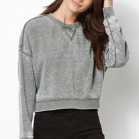 Kendall and Kylie Relaxed Cropped Crew Neck Sweatshirt at PacSun.com