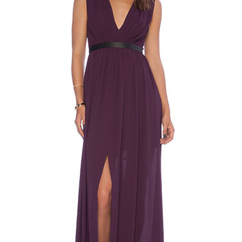 Alice + Olivia Denise Maxi Dress in Purple