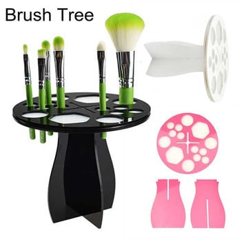 New Makeup Cosmetic Foundation Brushes Dryer Organizer Holder Hanger Stand Tool Without Brush #82643