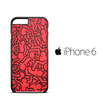 Keith Haring Colors Go Back X0151 iPhone 6 Case