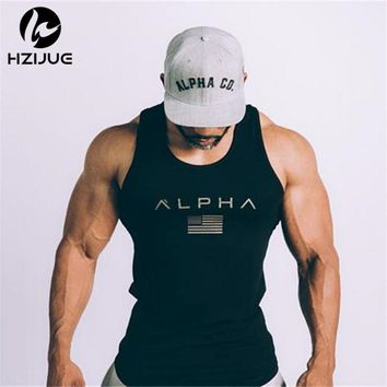 Men Summer Gyms Fitness bodybuilding Hood Tank Top Fashion Men's Cross fit Clothing Tight Breathable Sleeveless Shirts Vest