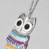 *Accessories Boutique The Enamel Owl Necklace : Karmaloop.com - Global Concrete Culture