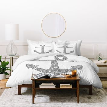 Restudio Designs Anchor Word Print Duvet Cover