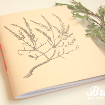 Nature Notebook  * Branch * Cream Color *  Garden Journal *  Planner * Illustration Notebook * Drawing * Plant Diary