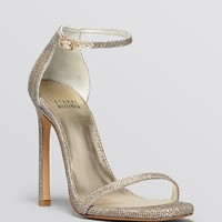Stuart Weitzman Open Toe Evening Platform Sandals - Nudist High Heel