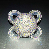 "The ""NEW BLING""... Handmade Crystal Bling Pacifier For POSH Babies"