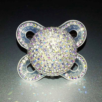 """The """"NEW BLING""""... Handmade Crystal Bling Pacifier For POSH Babies"""