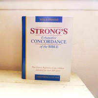 Strong's concordance, reference book, study aid, bible concordance, religious book, theology student, teacher gift, graduation gift, reading