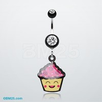 Cute Cupcake Chan Belly Button Ring