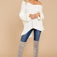 Remembering Fall Ivory Sweater