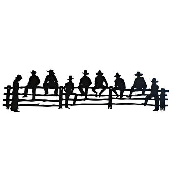 Relaxing Cowboys - Laser Cut Metal Wall Decor Sign