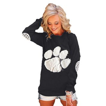 Dog Pet Paw Printed Sweater