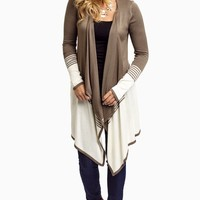 Olive-Striped-Colorblock-Flowy-Front-Cardigan