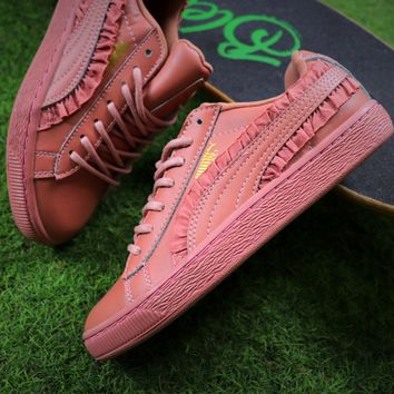Best Online Sale Puma Suede Heart  All Pink Shoes Women Sneaker