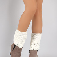 Two Pattern Knit Leg Warmers