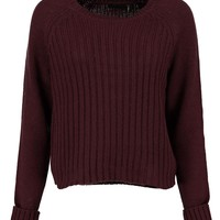 Anya Crop Ribbed Jumper