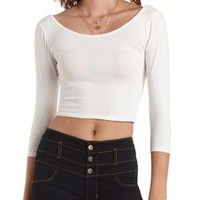 Wrap-Back Cotton Crop Top by Charlotte Russe