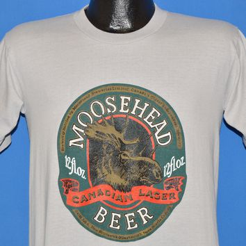 80s Moosehead Beer Canadian Lager Novia Scotia t-shirt Large