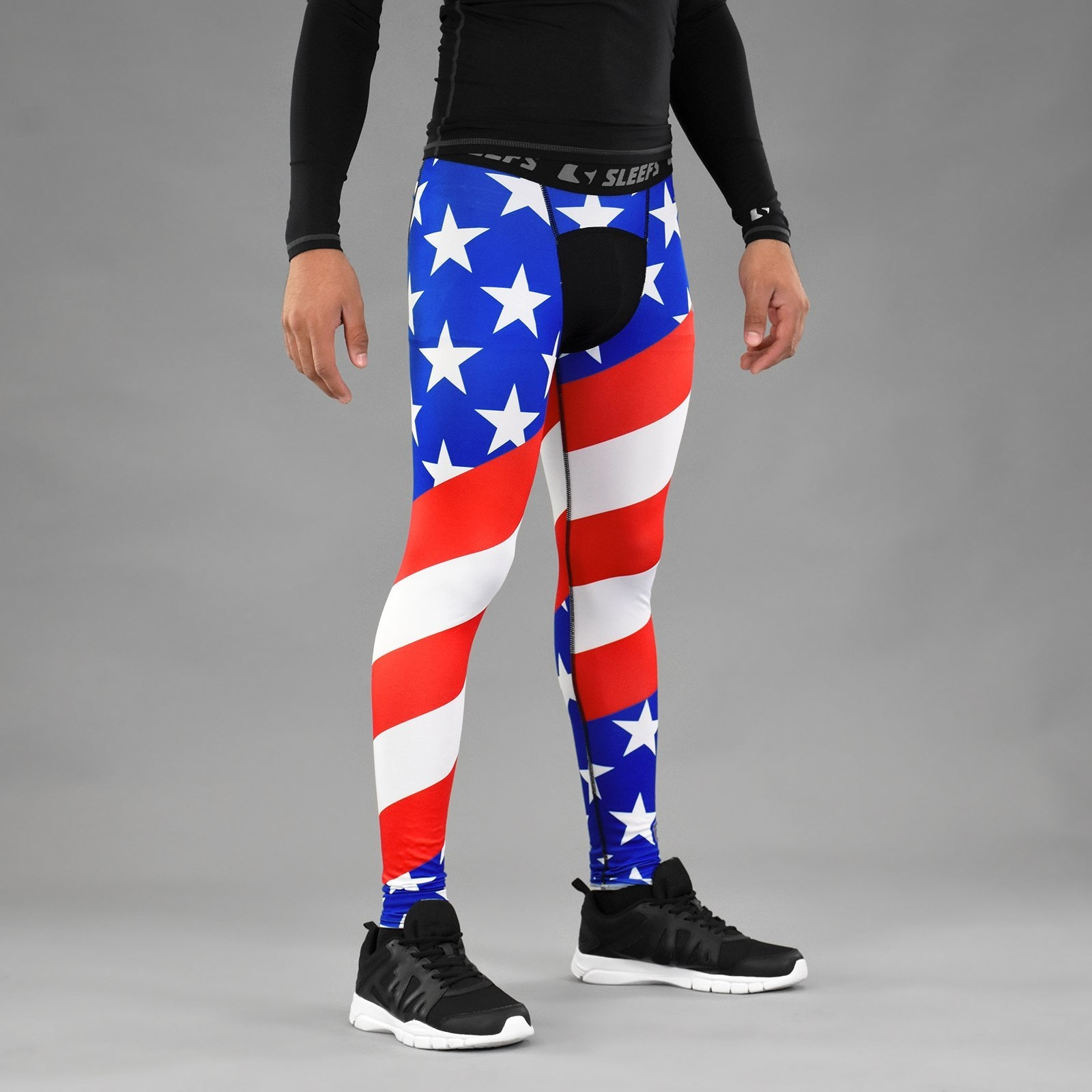 221be401691 USA America Flag Tights for men from SLEEFS