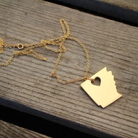 State Love Necklace {Arkansas} - Gold