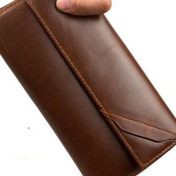 Leather men clutch modern brown coffee zip clutch men long wallet purse clutch