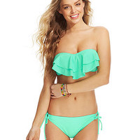 Hula Honey Tiered Flounce Bikini Top & Side-Tie Bikini Bottom