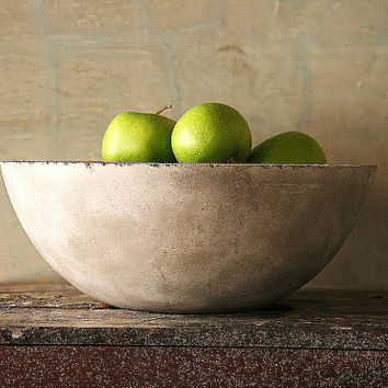 Made to Order Concrete Fruit Bowl French Country